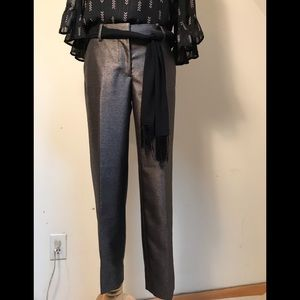 J. Crew like new worn once subtle metallic pant